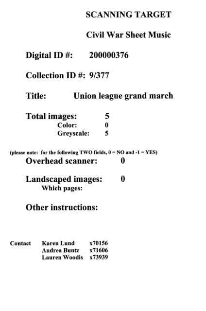 Union league grand march