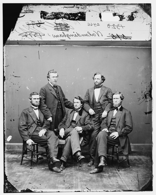 Vallandigham, Rep. Clement L. and group