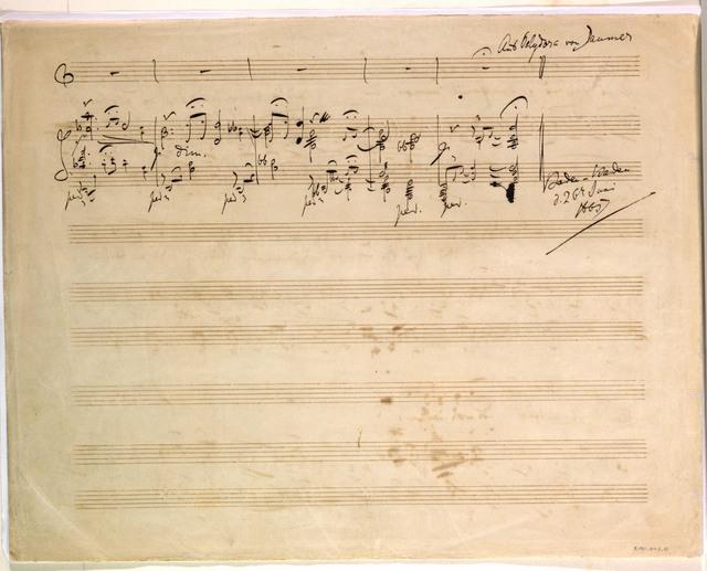 [Vier Lieder für Singstimme und Klavier, op. 46, no. 1, Die Kränze], Baden-Baden, 26 June 1865