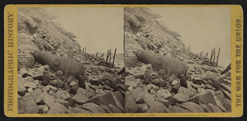 View of the east face of Fort Sumpter (i.e. Sumter), Charleston Harbor, S.C.