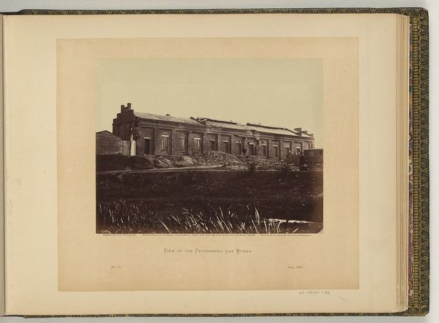 View of the Petersburg Gas Works / negative by T.H. O'Sullivan, positive by A. Gardner.