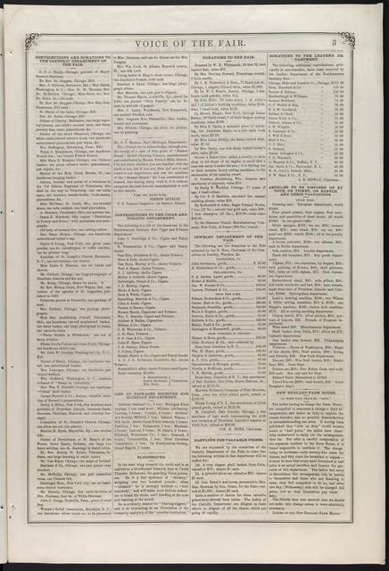 Voice of the Fair, [newspaper]. April 27, 1865-June 24, 1865.