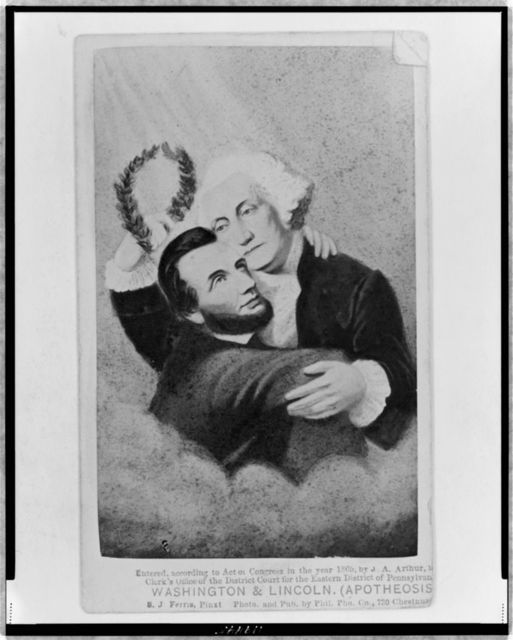 Washington & Lincoln (Apotheosis)