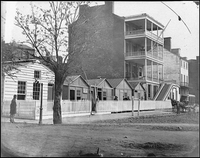 [Washington, D.C. Buildings of the Sanitary Commission Home Lodge for Invalid Soldiers, North Capitol near C St.]