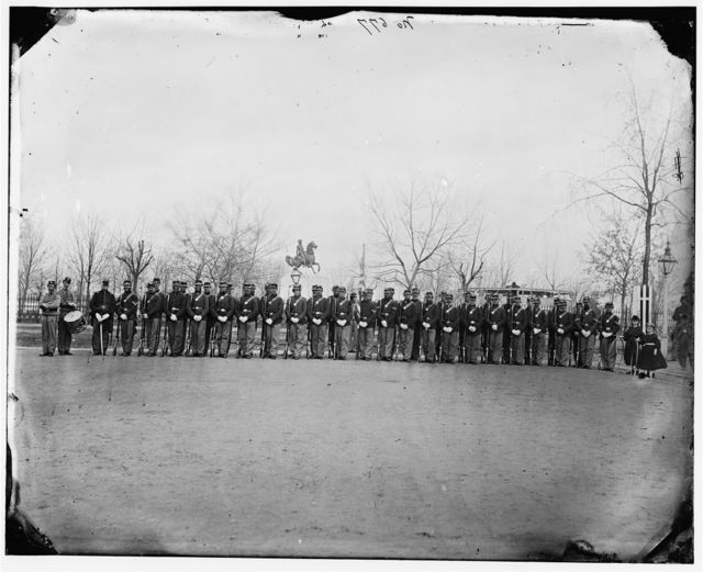 [Washington, D.C. Company B, 10th Veteran Reserve Corps, at Washington Circle]
