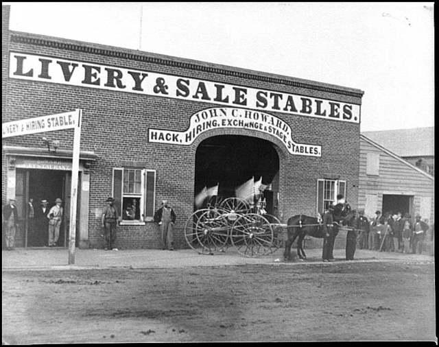 [Washington, D.C. John C. Howard's stable on G Street between 6th and 7th (where John H. Surratt kept horses before leaving town on April 1, 1865]