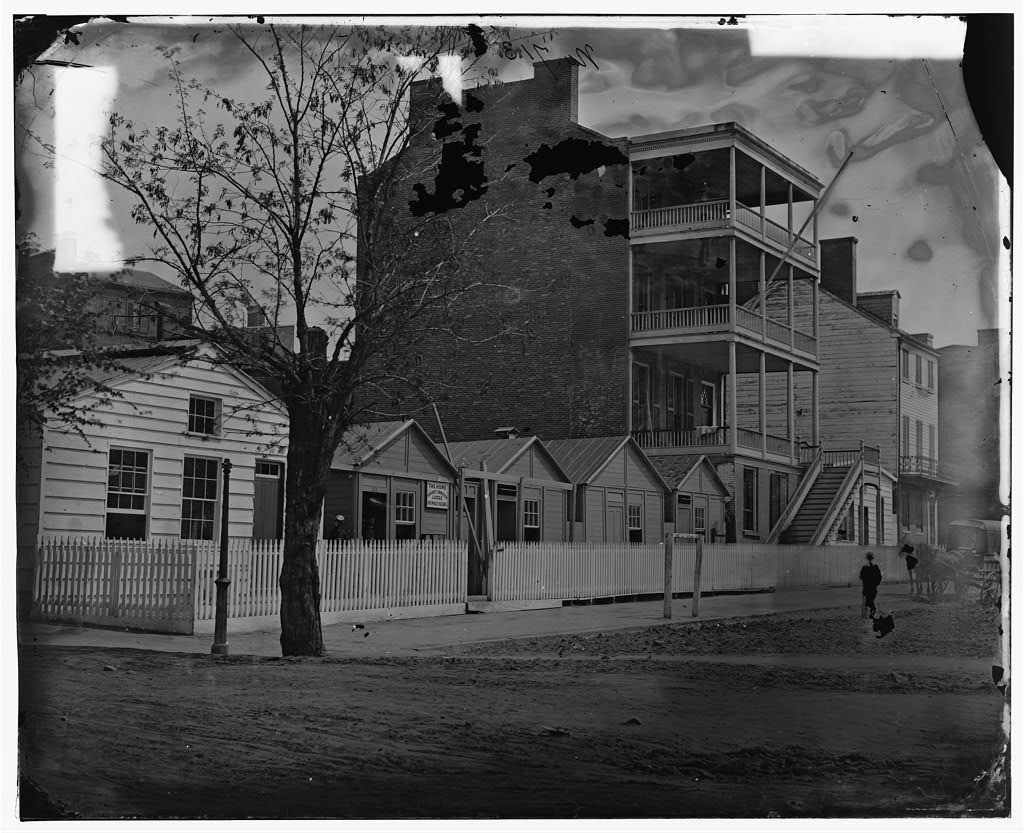 Washington, District of Columbia. Buildings of the Sanitary Commission Home Lodge for Invalid Soldiers, North Capitol near C. Street