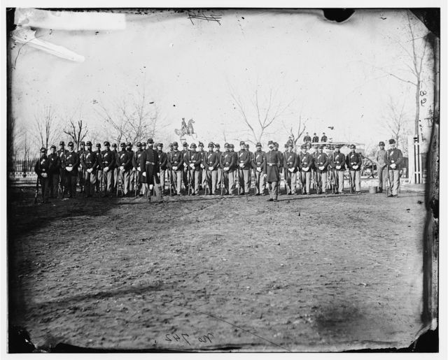 Washington, District of Columbia. Company A, 10th Veteran Reserve Corps. at Washington Circle