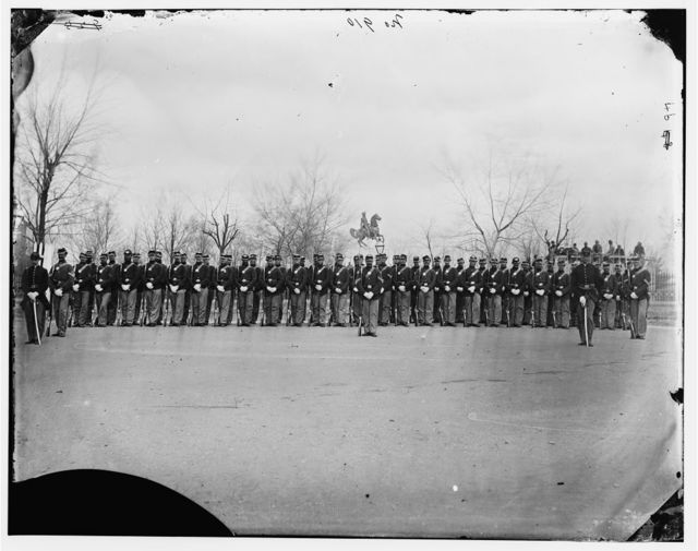 Washington, District of Columbia. Company F, U.S. Veteran Reserve Corps at Washington Circle