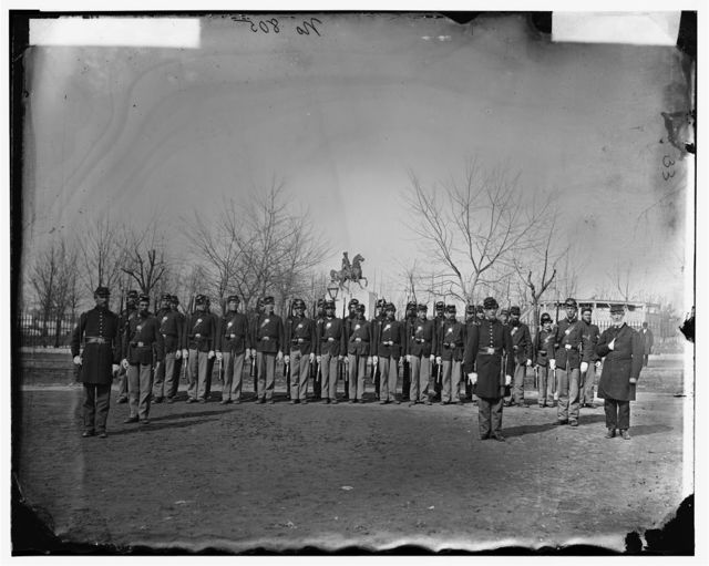 Washington, District of Columbia. Company K, 9th U.S. Veteran Reserve Corps, at Washington Circle