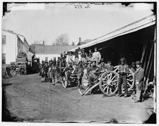 Washington, District of Columbia. Government repair shops. Wheelright shop