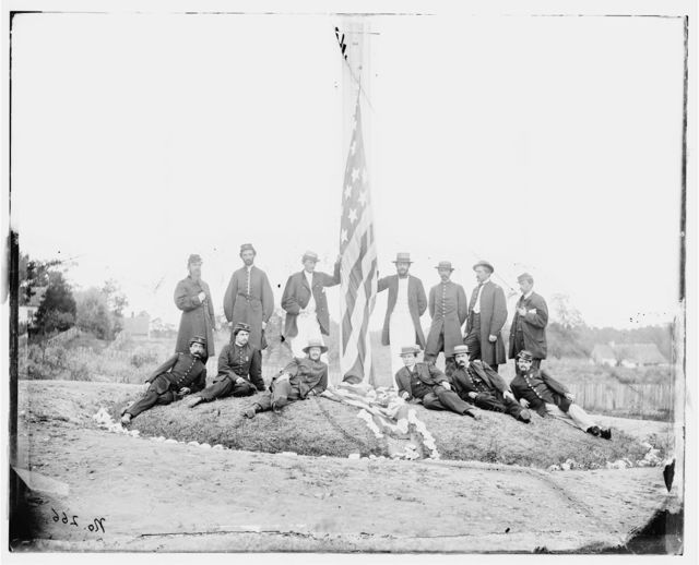 Washington, District of Columbia. Group of officers of Signal Corps. Camp of Instruction