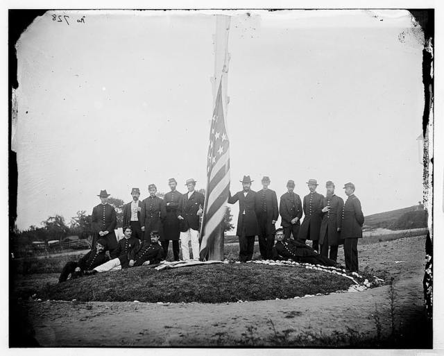 Washington, District of Columbia. Group of Signal Corps officers in camp near Georgetown
