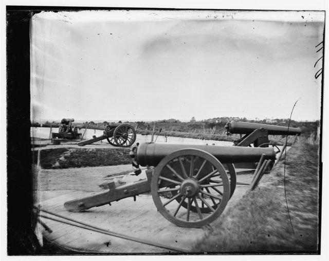 Washington, District of Columbia. James rifles in Fort Totten