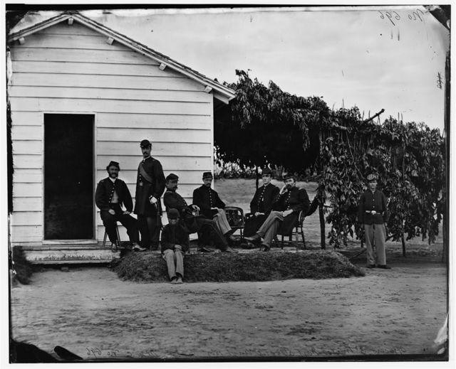 Washington, District of Columbia. Officers of 3d Regiment Massachusetts Heavy Artillery at Fort Stevens