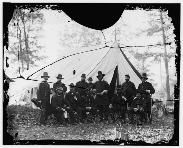 [Washington, District of Columbia (vicinity)]. Gen. James A. Hall, officers and men of Battery C & E, U.S. Artillery