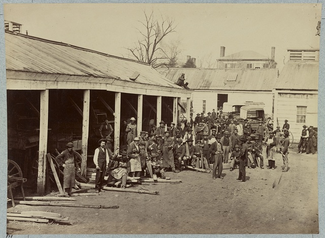 Wheelwright shop, Quartermaster's department, Washington, D.C., April, 1865