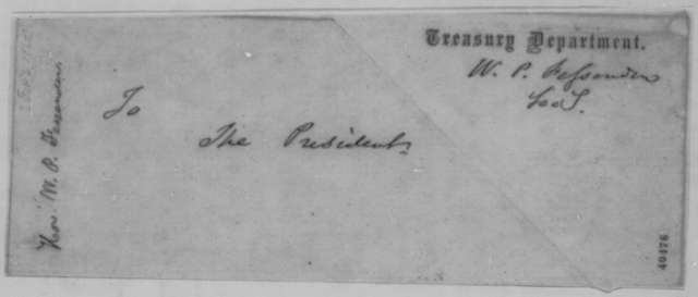 William P. Fessenden to Abraham Lincoln, Monday, February 06, 1865  (Resignation)