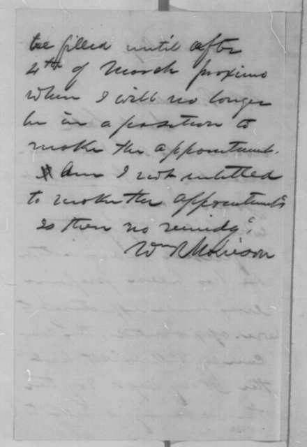 William R. Morrison to Abraham Lincoln, Friday, March 03, 1865  (Naval Academy appointment)