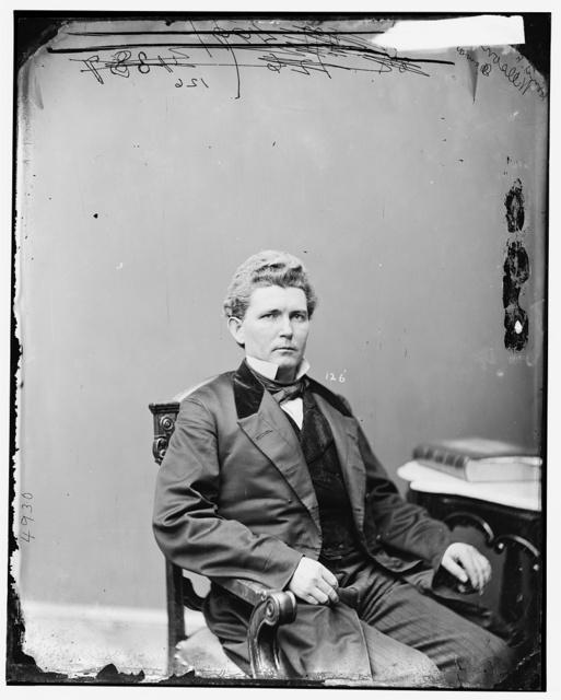 Wilson, Hon. James Falconer of Iowa, Delegate to Democratic Nat. Convention in Baltimore in 1860