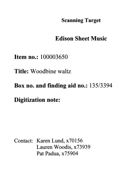 Woodbine waltz