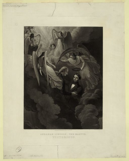 Abraham Lincoln, the martyr, victorious / designed by W.H. Hermans ; engraved by John Sartain, Phila.