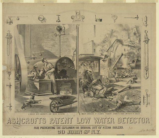Ashcroft's patent low water detector for preventing the explosion [...]
