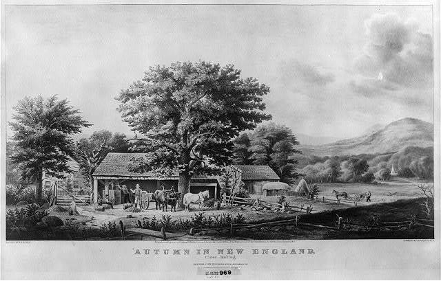 Autumn in New England: cider making / painted by G.B. Durrie ; Currier & Ives, lith. N.Y.