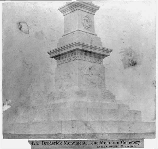 Broderick Monument, Lone Mountain Cemetery, San Francisco - Close-up view