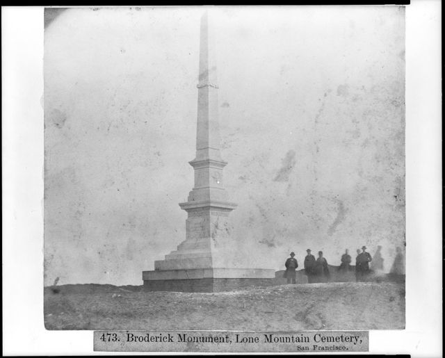 Broderick Monument, Lone Mt. Cemetery, San Francisco