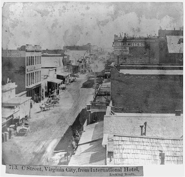 C Street, Virginia City, from International Hotel, looking South