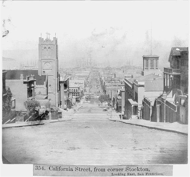 California Street, from corner Stockton - looking East, San Francisco