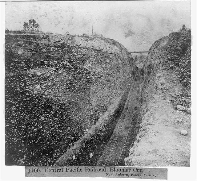 Central Pacific Railroad, Bloomer Cut, near Auburn, Placer County