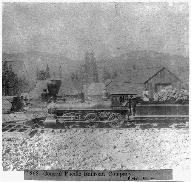 Central Pacific Railroad Company - Freight Engine.