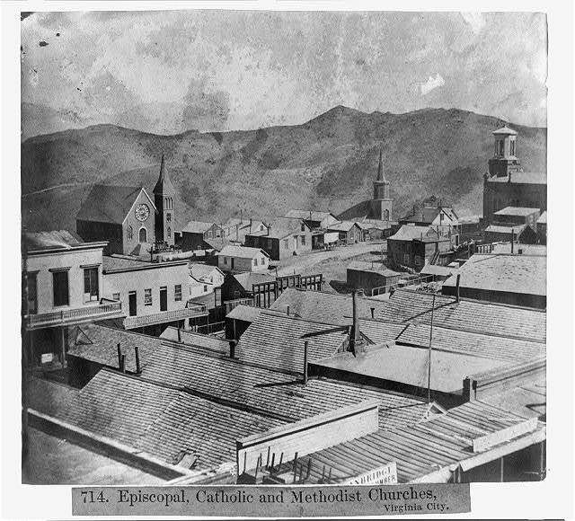 Episcopal, Catholic and Methodist Churches, Virginia City - Other buildings