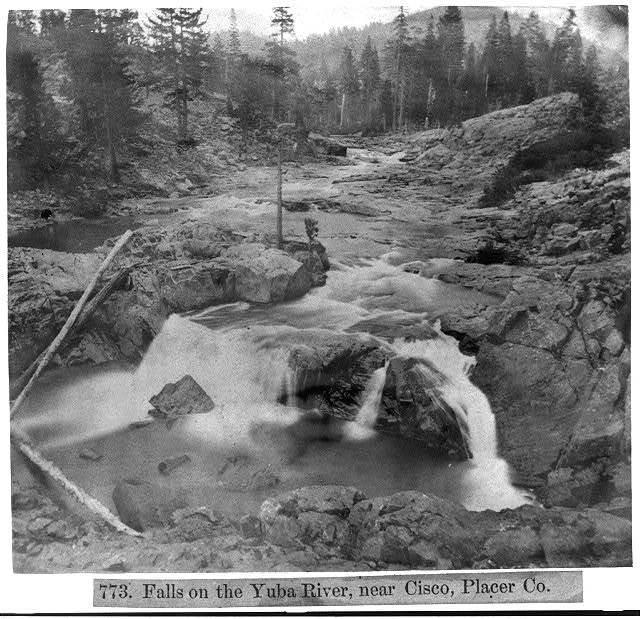 Falls on the Yuba River, near Cisco, Placer County