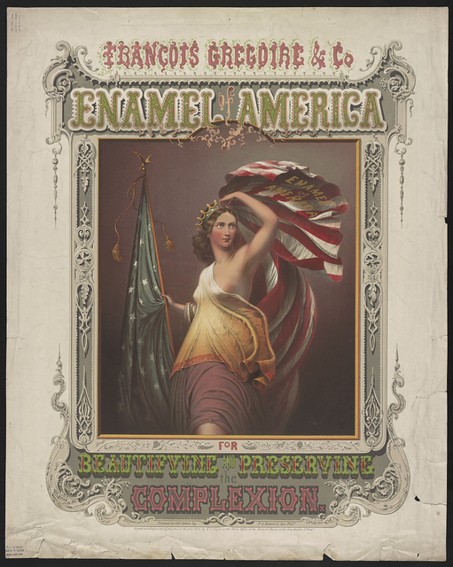 François Gregoire & Co. enamel of America for beautifying and preserving the complexion / printed in oil colors by P.S. Duval & Son Phila.