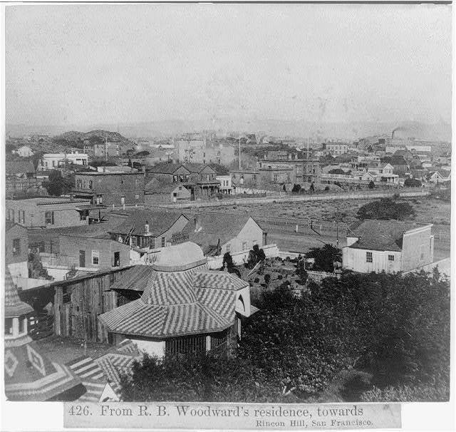 From R.B. Woodward's residence, towards Rincon Hill, San Francisco
