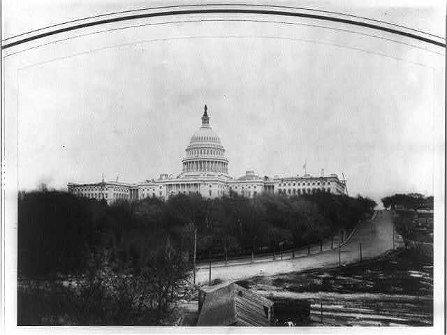 [Full view of U.S. Capitol from southwest]