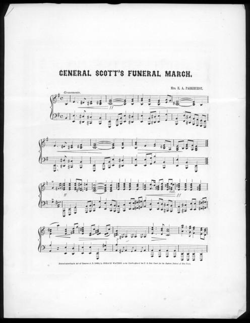 General Scott's funeral march
