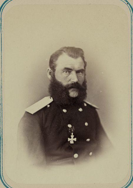 Georgievskie kavalery imieiushchie znaki otlichiia voennago ordena. Za vziatie ukriepleniia Ura-Tiube 2-go Oktiabria 1866 g. Praporshch. A. G. Popov