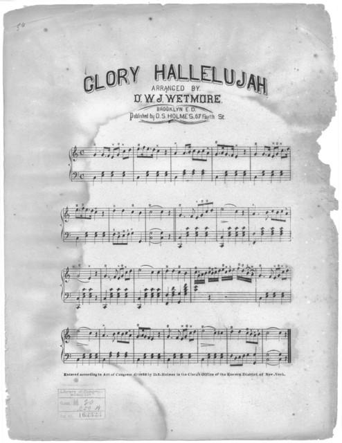 Glory hallelujah