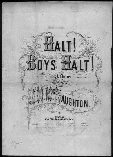 Halt! boys, halt!