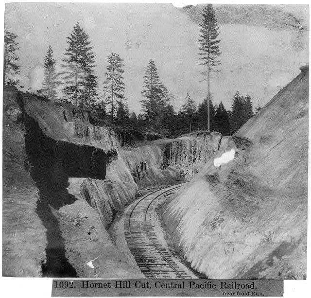 Hornet Hill Cut, Central Pacific Railroad near Gold Run