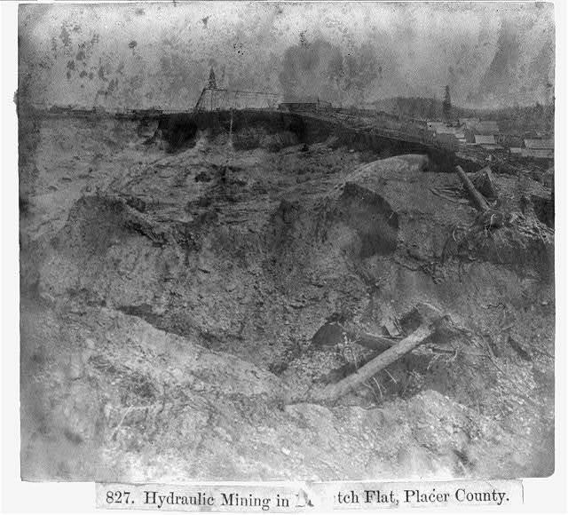 Hydraulic Mining in [Dutch] Flat, Placer County