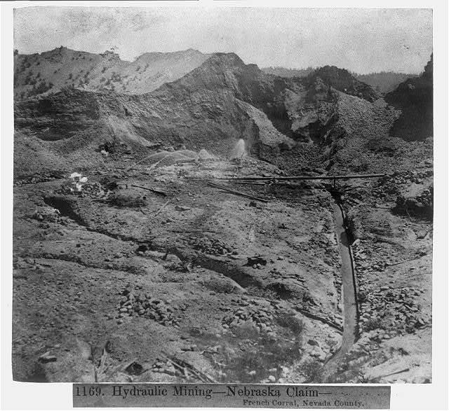 Hydraulic Mining - Nebraska Claim - Fr. Corral, Nev. County