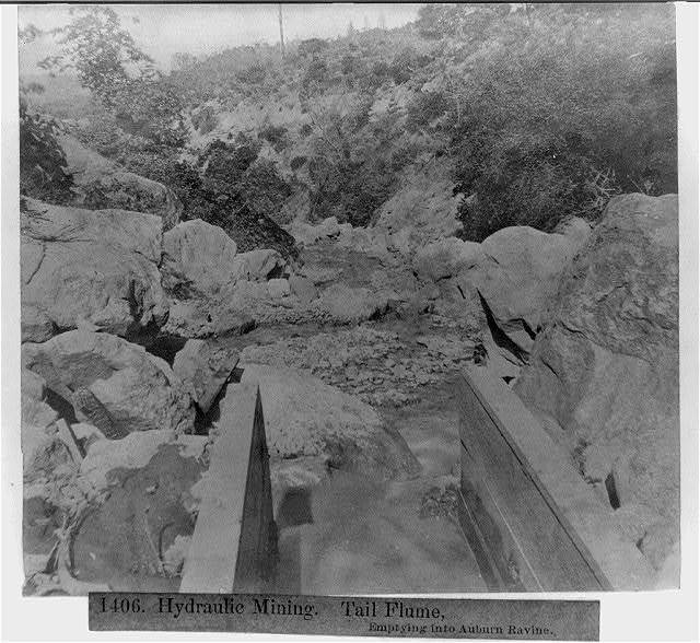 Hydraulic Mining - Tail Flume, emptying into Auburn Ravine