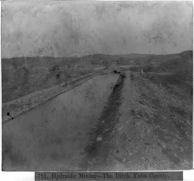 Hydraulic Mining--The Ditch, Yuba County