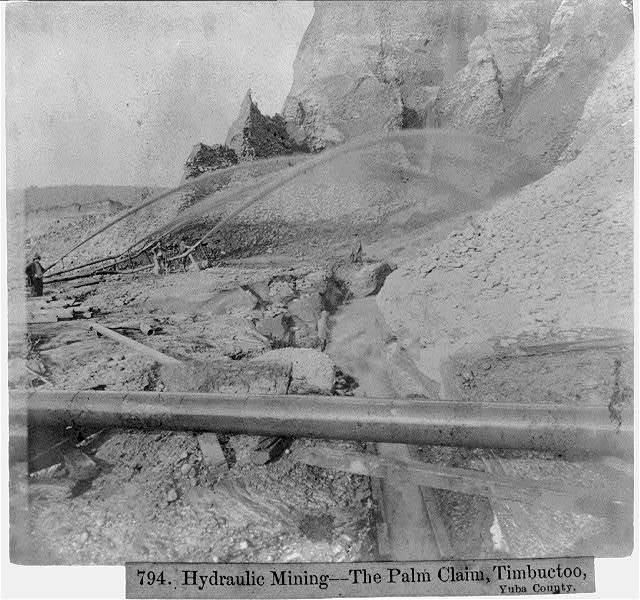 Hydraulic Mining-The Palm Claim, Timbuctoo, Yuba County