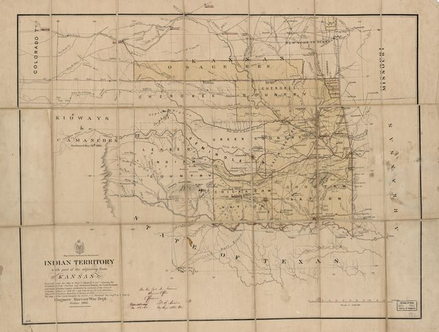 Indian Territory, with part of the adjoining state of Kansas, &c. /